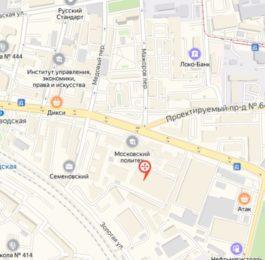 Новый адрес Большая Семеновская 40