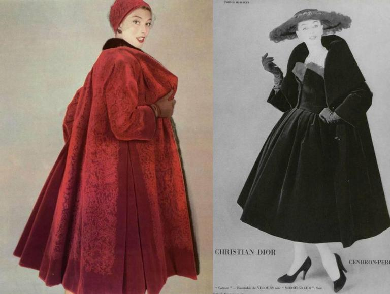 Christian Dior Haute Couture silk velvet opera coat