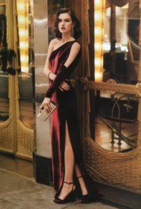 вечернее платье из вельвета