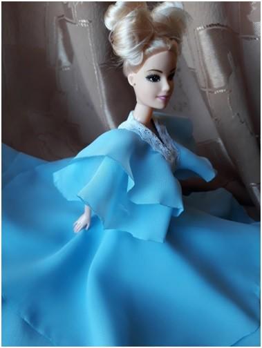 Шьем платье для куклы барби