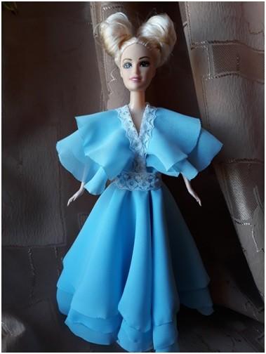 Шьем платье для куклы барби из шифона