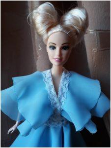 Шьем платье из шифона для куклы барби