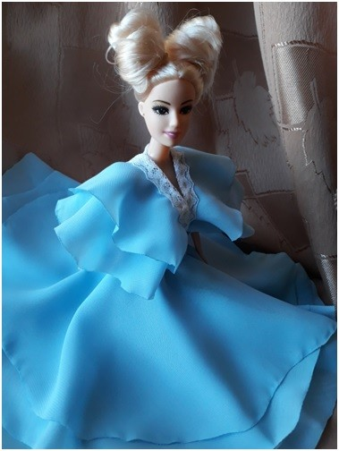 Учимся шить платье для барби