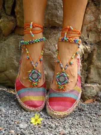 Обувь под платье в стиле бохо