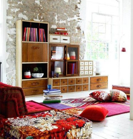 Стиль бохо в интерьере комнаты