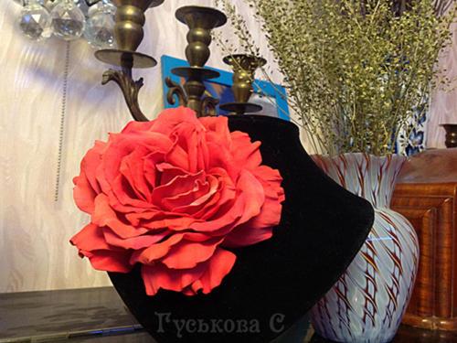 Мастер-класс по цветам из фоамирана